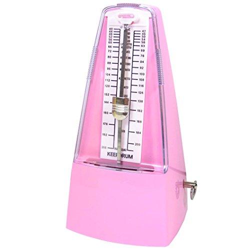 Keepdrum GMPL Metronoom met klok en klok roze