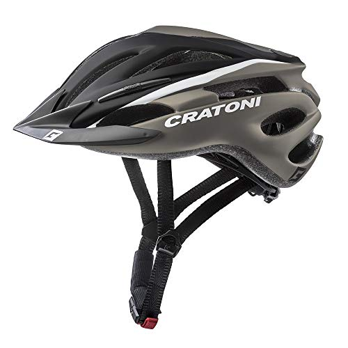 Cratoni Pacer+ Fahrradhelm Schwarz Grau Matt (Größe L-XL)