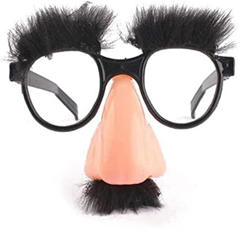 1pc Divertido Disfraz De Halloween Nariz Grande Barba Gafas Disfrazado Cejas Y Gafas Bigote Falso Nariz Party Props