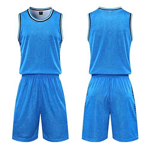 Uniformes de entrenamiento de baloncesto, dos piezas de baloncesto uniformes para chalecos y pantalones cortos, uniformes de entrenamiento de competición de hombres y mujeres de la tabla de luz de baloncesto ropa azul claro (XS-5XL), 123, 123, color color, tamaño lightblue-2XL