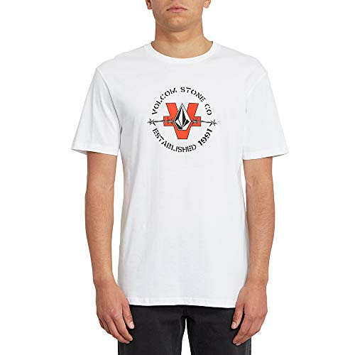 Volcom Fence BSC SS Kurzarm-T-Shirt, Herren, Weiß, M
