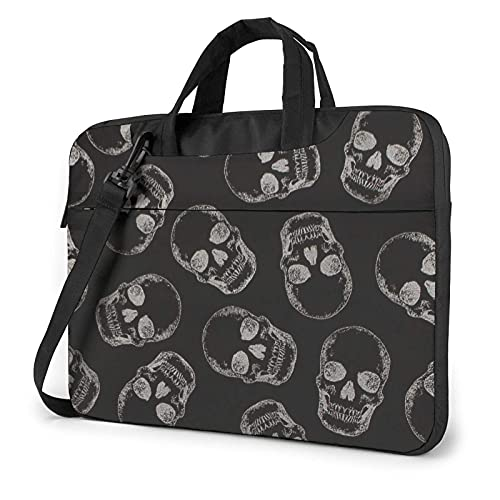 Funda para portátil Black Skulls Bolso de Neopreno Lindo Elegante para portátil de 14 Pulgadas