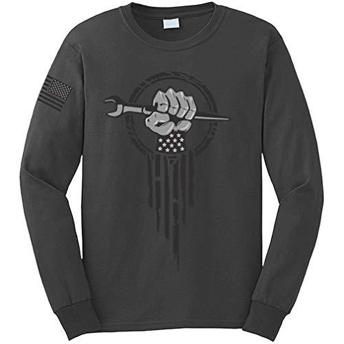 Ironworker Superhero Ironworking Spud Wrench Hand Long Sleeve T-Shirt