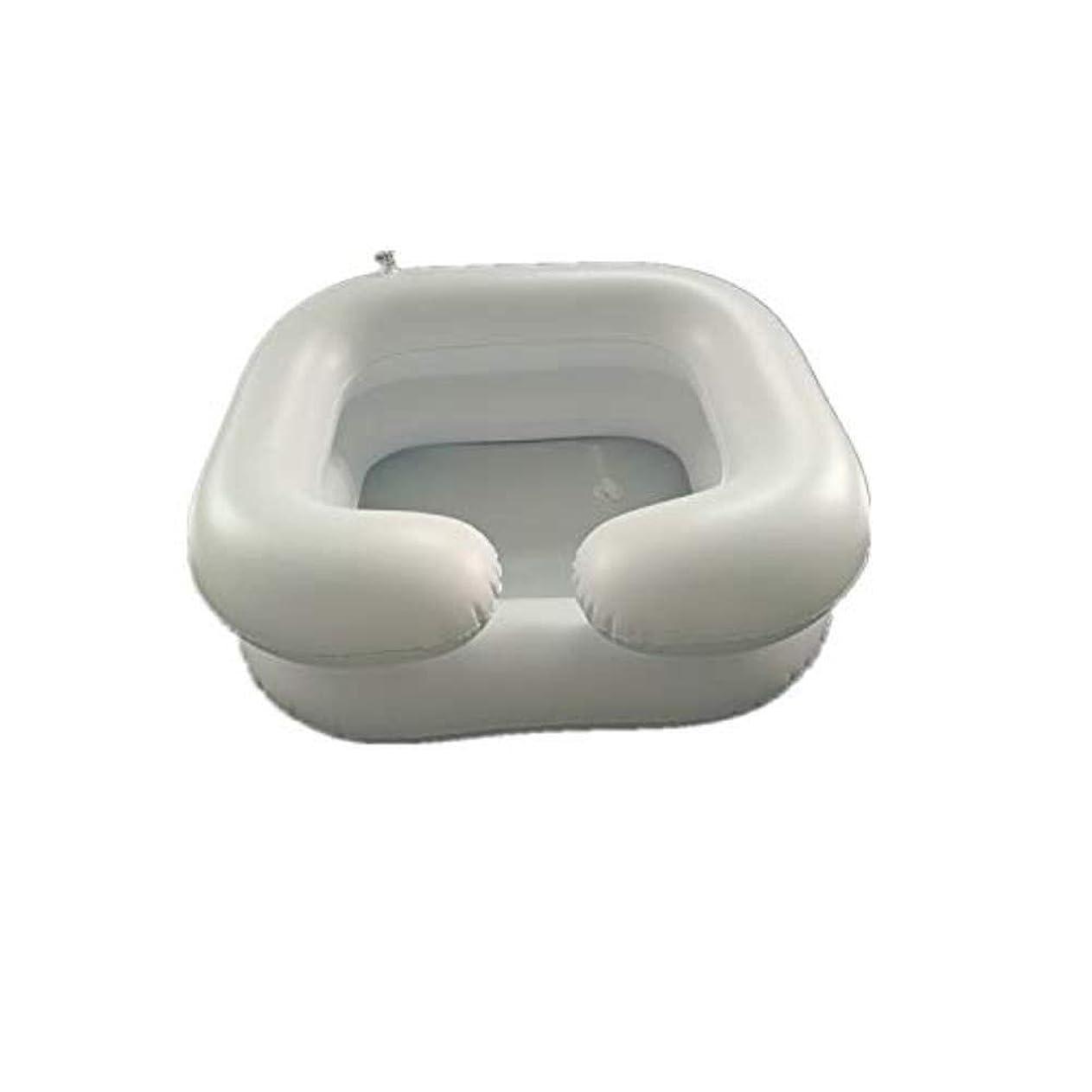 ゲインセイ有名依存インフレータブルシャンプー洗面器入浴補助-障害者、妊娠中、および高齢者の寝たきりのためのベッドで髪を洗う