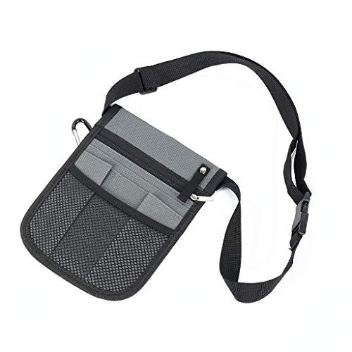 hwljxn Enfermera Cinturón de enfermería Organizador Bolsa de Cintura Bolsa para la cinturón de Utilidad de Accesorios de enfermería fácil de Llevar (Color : Gray)
