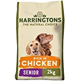 Harringtons Complete Senior Dry Dog Food Rich in Chicken & Rice 2kg, pack of 4