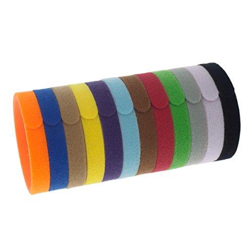 Smartfox 12 ID Welpenhalsbänder für Züchter zur Identifikation von z.B. Hundewelpen, Katzenbabys UVM. bis zu einem Halsumfang von 33 cm