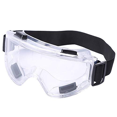 Gafas de seguridad antipolvo flexibles a prueba de polvo, trabajo al aire libre Gafas de seguridad a prueba de polvo antivaho a prueba de viento, gafas de seguridad de fábrica laboratorio protectoras