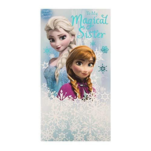 Hallmark Geburtstagskarte für Schwester zum Geburtstag – Disney Die Eiskönigin Design