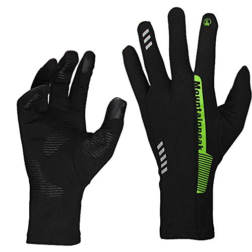 Cycling Gloves Men Women Touch Screen Gloves Running Gloves Lightweight Lining Gloves for Outdoor Sports Climbing Hunting Riding Anti-Slip Cycling Gloves for Men Women (Color : Green, Size : L)