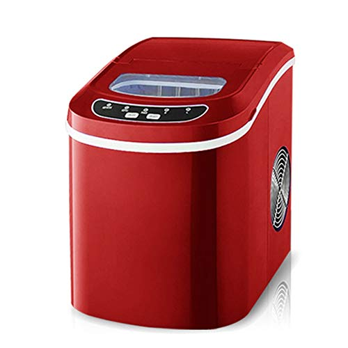 GWX Haushalt Kleine Eismaschine 24 Stunden EIS 12KG Macht Kommerzielle Milch Teeladen KTV Manuelles Wasser Eisautomat Machen,Rot