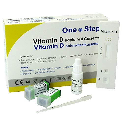 2 x Vitamin D Level Insufficiency Deficiency Testing Kits (2 Tests)