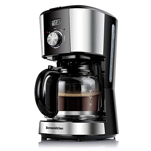 Coffee Maker 12 Cup with Glass Carafe & Reusable Coffee...