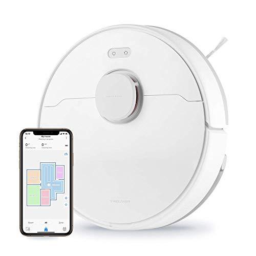 TROUVER Finder LDS Robot Aspirapolvere con funzione di pulizia,Aspirazione 2000 Pa, Aspira e Lava 2 in 1, Supporta Alexa&Mi home app,navigazione intelligente,Memorizza la planimetria della tua casa