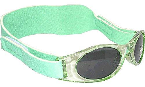 Edz Sunnyz Lunettes de soleil Baby pour bébé, garcons et filles. De 0 mois à 2 ans, protection UV400 (vert, 43)