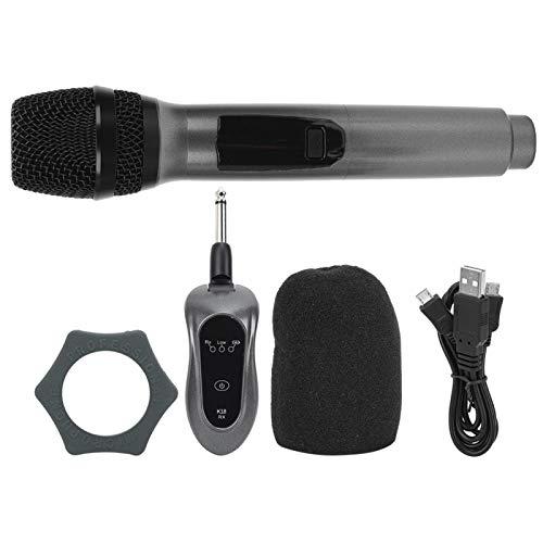Microfone sem fio, microfone de carregamento, microfone de karaokê, anti-queda fácil de usar para crianças cantando