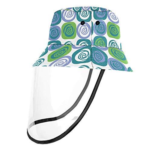 Visera azul con cubierta de plástico plegable ajustable para mujeres y niños Multicolor multicolor 57 cm