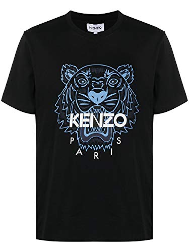 Kenzo Herren T-Shirt Tiger Schwarz Tiger Blau 100{ecd98403e57396d42929bd35daa1e1dfc7e7ec1f430fd1ede8b7cf49112b7e5c} Baumwolle (schmale Größe) Gr. M Kurz, Schwarz