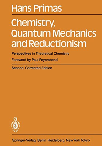 Chemistry, Quantum Mechanics and Reductionism: Perspectives in Theoretical Chemistry