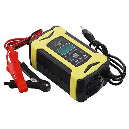 VILLCASE 1 Unidad Cargador de Batería de Coche Cargador de Arranque Coche Inteligente de Reparación de Pulso- Enchufe de La UE