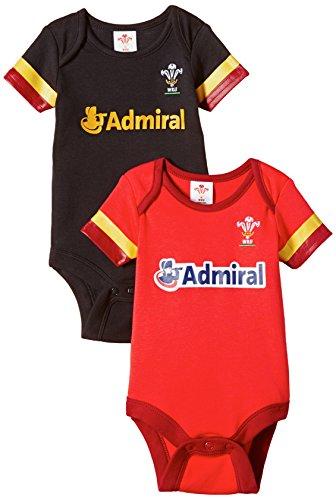 Brecrest Fashion Welsh Rugby Union Combinaison, Rouge-Rouge, 12-18 Mois Bébé garçon