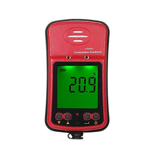 JF-Xuan Combustible monitor de gas, detector de fugas de gas portátil, detector de fugas de alta sensibilidad Sniffer Propano Gas Natural con Vibración Sonido Luz de alarma for Petroquímica