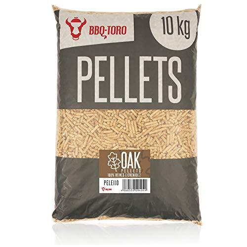 BBQ-Toro Oak Pellets aus 100% Eichenholz (10 kg) | Eichenpellets für Grill, Smoker, Pellet-Pizzaofen und Heizungsanlagen | Grillpellets