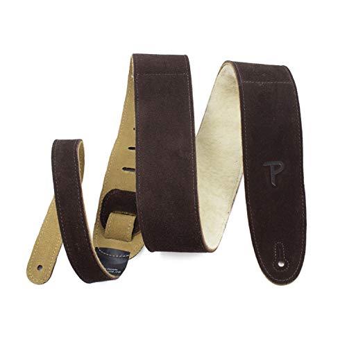 """Perri's Leathers Ltd Guitar Strap, 2.5"""" Wide Soft Suede, Sheepskin Fur..."""