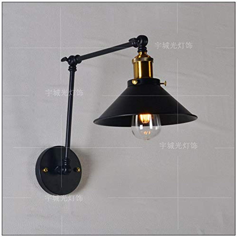 StiefelU LED Bügeleisen Wandleuchten verstellbare Wandleuchten Restaurant Coffee Shop Dekorative Wandleuchte Spiegel lampe Schlafzimmer Bett Wandleuchten Beleuchtung, 30 +30 cm