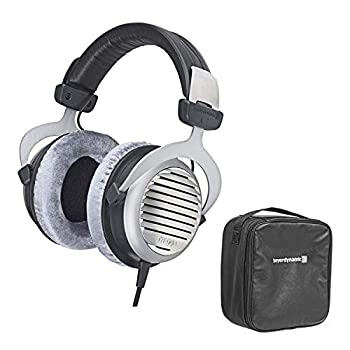 Beyerdynamic DT 990 Premium Edition 600 Ohm Over-Ear Stereo Headphones Bundle with Protection Plan and Leather Storage Bag