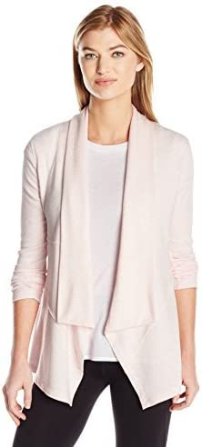 Courier shipping free shipping Calvin Klein Women's Plus Size Drape Sle with Cardigan Rib Manufacturer regenerated product Front