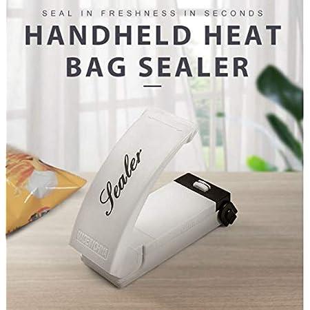 Sellador de bolsas de bocadillo portátil manual manual, mini máquina de sellado de mano para reseales de patatas fritas, bolsas de plástico, para sellado hermético de almacenamiento de alimentos