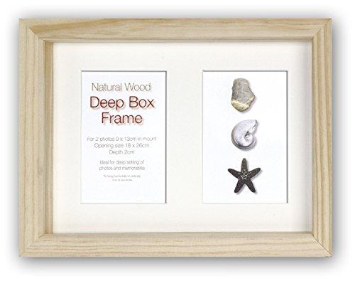 Zep S.r.l Deep Box Frame Cadre Double pour Suspendre, Bois Naturel, 2 x 9 x 13 cm