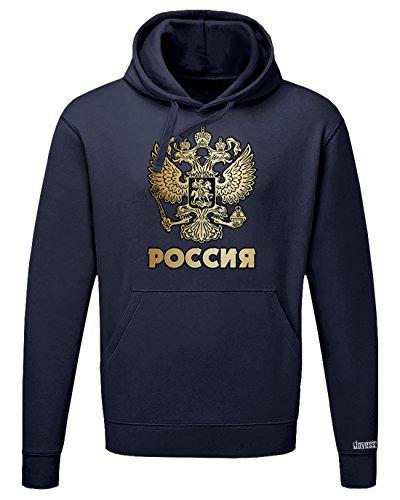 Jayess POCCNR - Russland Russia - Herren UND Damen - Hoodie by Navy by Gr. M
