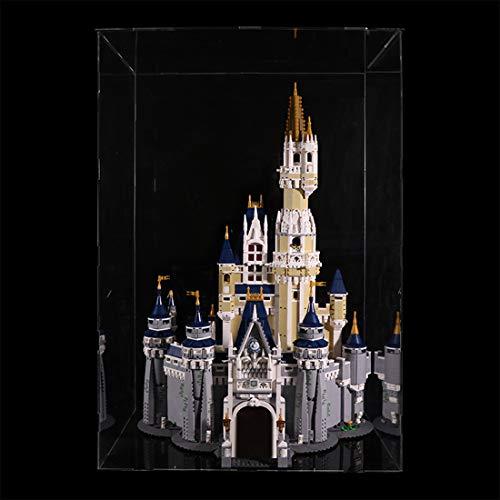 TONGJI Acrylic Display Case Compatibile con Lego 71040 Castello Disney- Acrilico Vetrina (Non Incluso Modello)