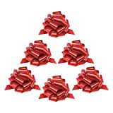 Mata1 Pull Bows for Gifts (Red, 9 Inch, Set of 6), Large 9