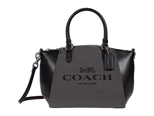 COACH Jacquard Elise Satchel Sv/Black One Size