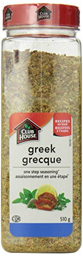 Club House, Quality Natural Herbs & Spices, One Step Seasoning, Greek, 510g