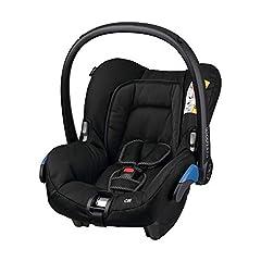 Maxi-Cosi Citi bärsele, fjäderlätt barnbilbarnbarnbarnbarnbarnsstolgrupp 0+ (0-13 kg), användbar från födelse upp till ca. 12 månader, Svart korp (svart)