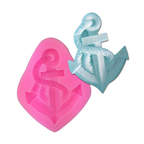 Mr.S Shop 3D Silicone Mold Anchor Shape Mould for Soap Candy Chocolate Ice Cake Decorating Tools for Bakeware DIY Tools
