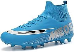 LIANNAO Botas de Fútbol para Hombre Spike Zapatillas de Fútbol Profesionales Atletismo Training Zapatos de Fútbol Exterior Deporte Entrenamiento Zapatos de Fútbol 35-47