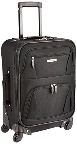 Rockland Pasadena Softside Spinner Wheel Luggage, Black