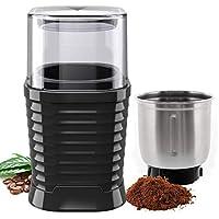 macinacaffè elettrico 200w con contenitori rimovibili in acciaio inossidabile coffee macina grinder per macina chicchi di caffè spezie frutta a guscio e grano