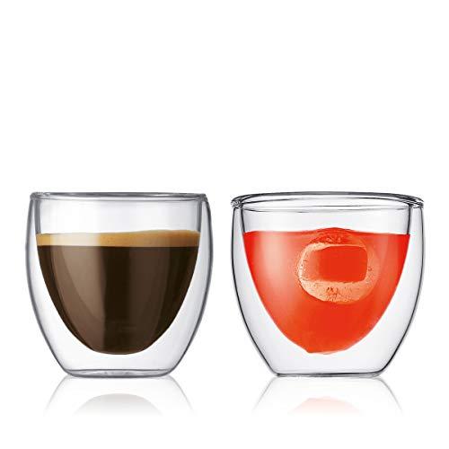 Bodum Pavina 4557-10 Set 2 bicchieri da caffè 0,08 litri