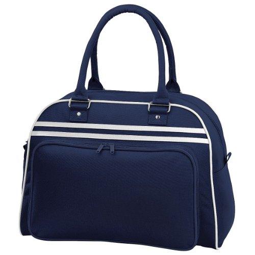 BagBase Retro Bowling Bag Marineblau / Wei_