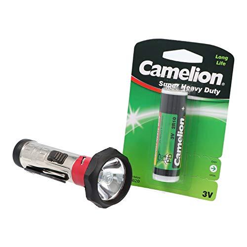 Duplex Stabtaschenlampe im klassischen Design inklusive Stabbatterie