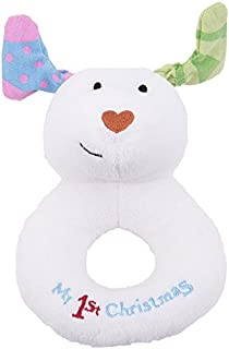 Snowdog My First Christmas Jingle Bell Ring Rattle