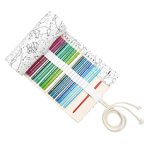 Leinwand Stifterolle Pencil Wrap Roll up Holder Tasche Federmappe(36 Loch)