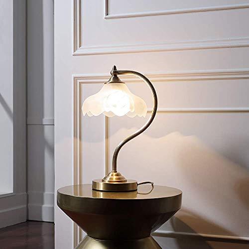Cobre decorativo lámpara de mesa dormitorio lámpara pastoral retro estudio sala caliente moderna simple lámparas