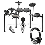 Alesis Nitro Mesh Electronic Drum Kit With a Pair of Drum Sticks + Headphones + 3.5 mm Interconnect...